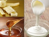 Сметана-мед и банан маска за лице