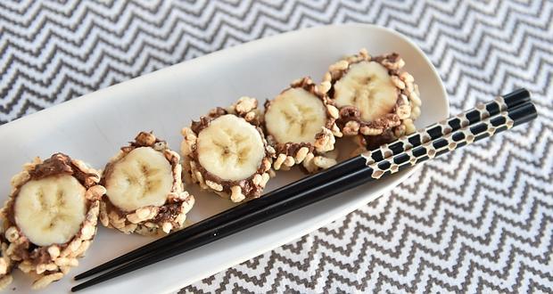 суши с банан и шоколад