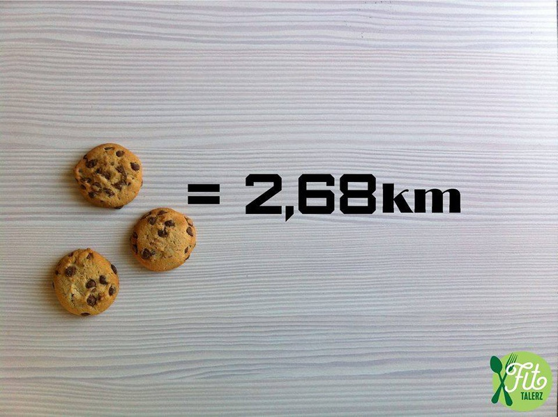 2016 - Fit Talerz - 3 cookies equals 2_68km