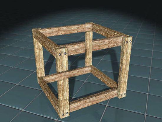 Дървен куб