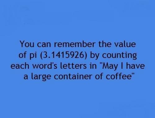 Ето хитър начин как да запомните цялата стойност на числото ПИ