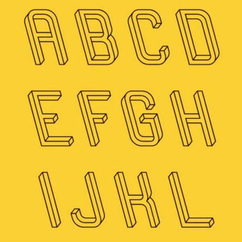 Тези букви са изпъкнали или вдлъбнати