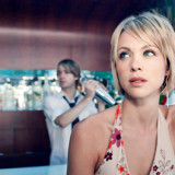 Blond Young Woman in a Bar --- Image by © Christoph Wilhelm/zefa/Corbis