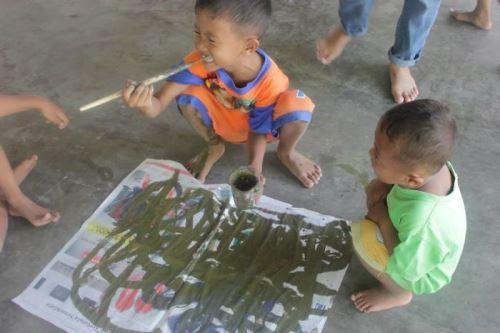 Индонезия, рисуване