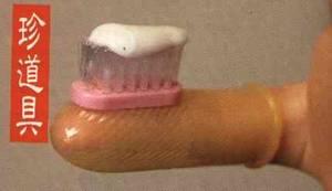 Миниатюрна четка за зъби за трудно достъпните места с напрайник за пръста