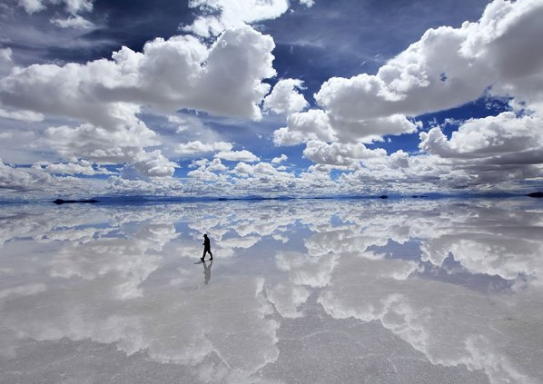 Безотточно солено езеро Салар де Уюни, Боливия