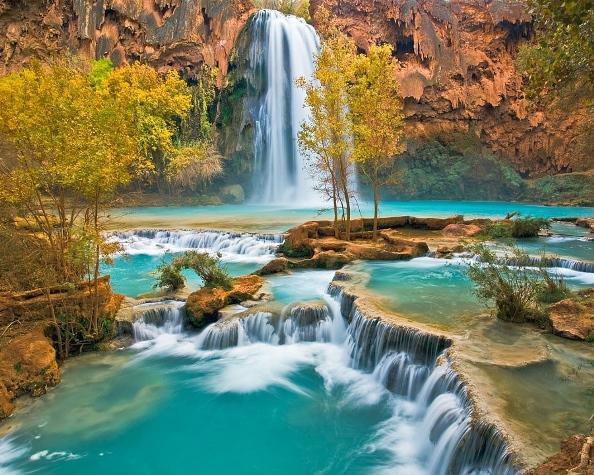 Водопад Хавасу Гранд-Каньон, Аризона, САЩ