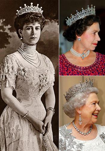 Кралицата през годините