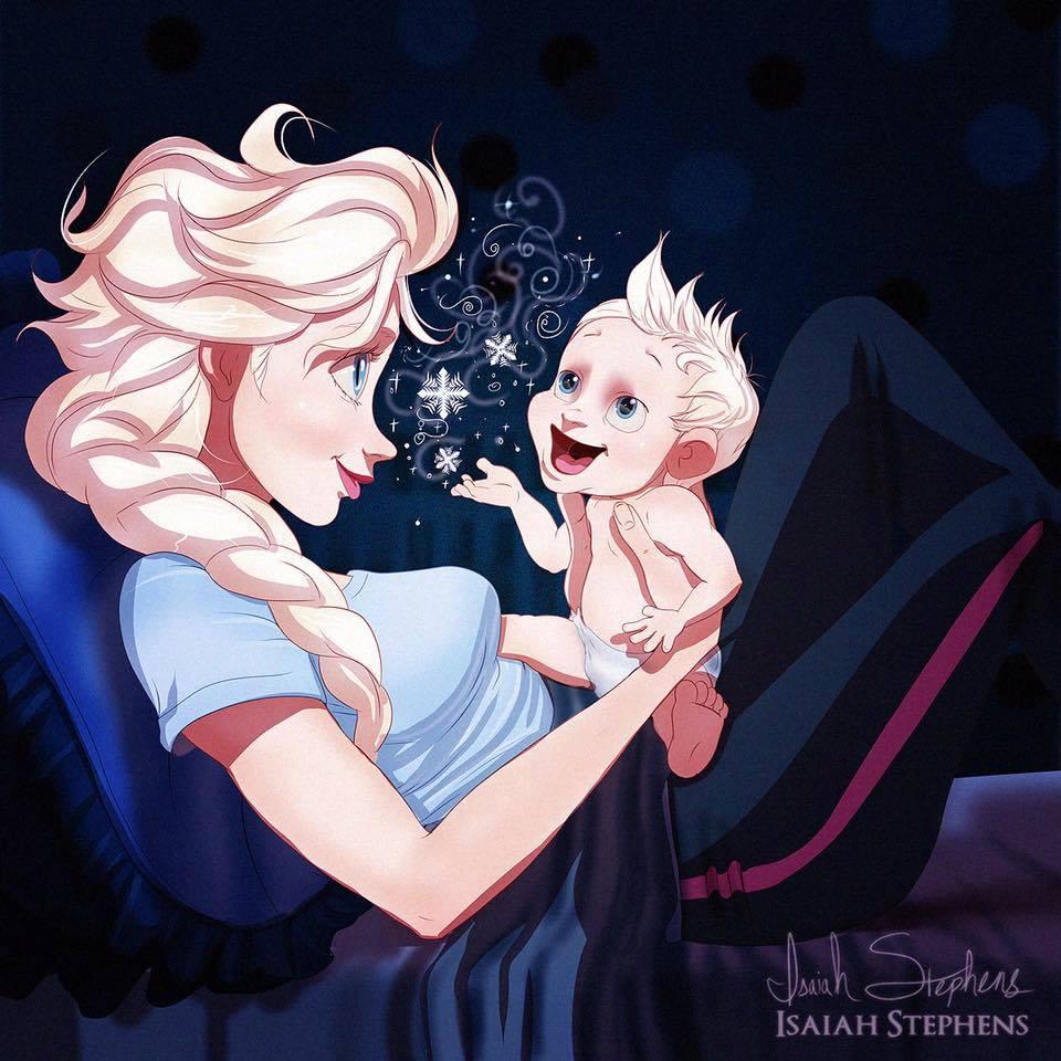 Детето на Елза май няма проблем да запее още от раждането.