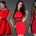 червени дрехи