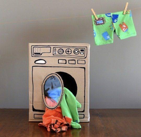Направи си сам - пералня от картонен кашон