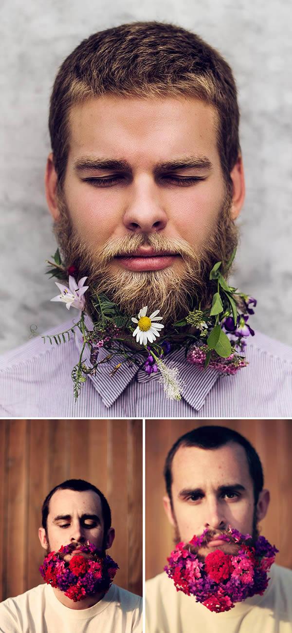 Цветя в брадата