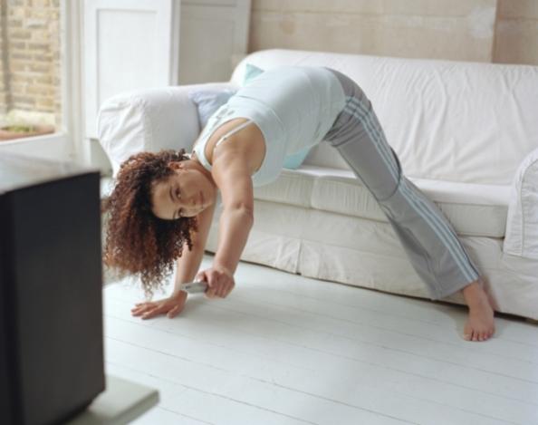 Упражнение пред телевизора